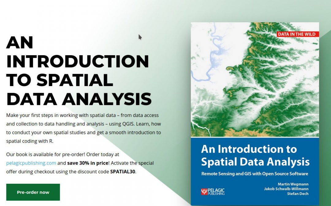 Intro to Spatial Data book – discount for pre-order